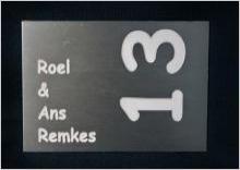 Metalen naambord