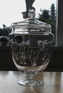 Glas met graverring