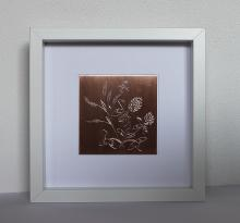 Handgravure bloem