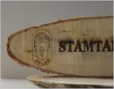 Logo in hout gelaserd