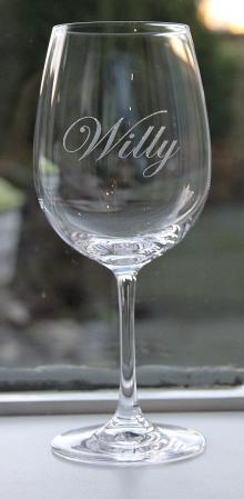Graveren wijnglas