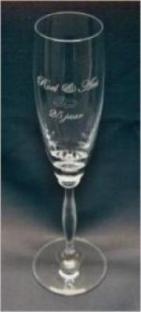 Lasergravering  champagne glas