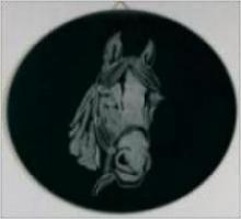 Handgegraveerd spiegel rond 16,50 euro