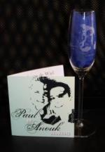 Champagneglas graveren  trouwkaart
